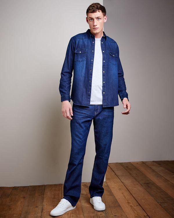 Regular Fit Long-Sleeved Denim Shirt