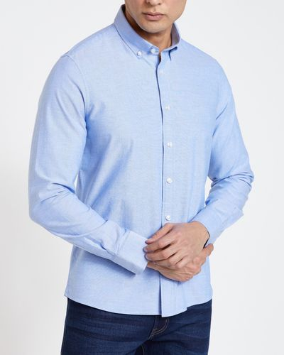 Slim Fit Long-Sleeved Oxford Solid Shirt