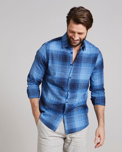 Regular Fit Linen Blend Fashion Shirt