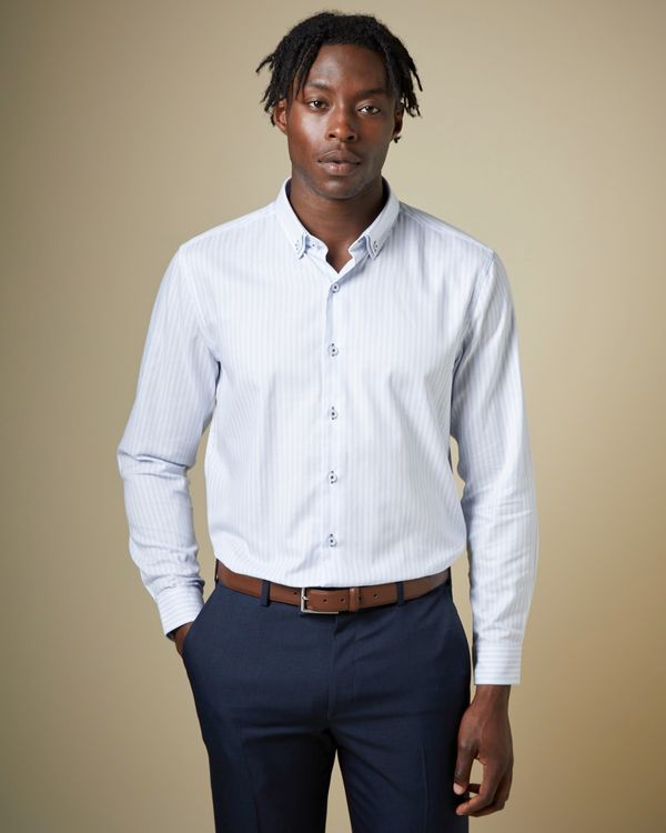Regular Fit Light Blue Luxury Collar Shirt