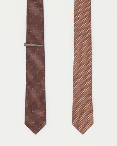 Slim Tie With Tie Clip - Pack Of 2