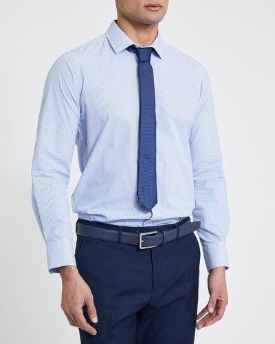 Slim Fit Design Shirt And Tie Set thumbnail