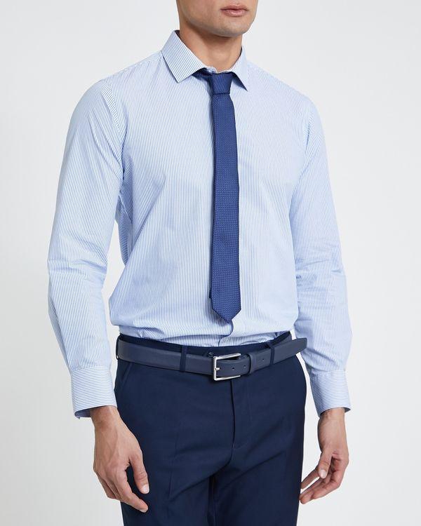 Slim Fit Design Shirt And Tie Set