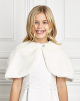 ivory Paul Costelloe Living Ivory Faux Fur Shrug