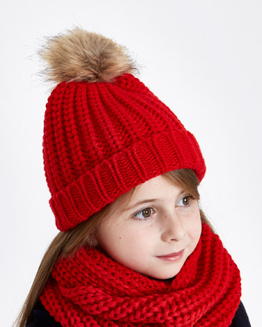 red Paul Costelloe Living Knitted Hat