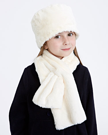 ivory Paul Costelloe Living Faux Fur Hat