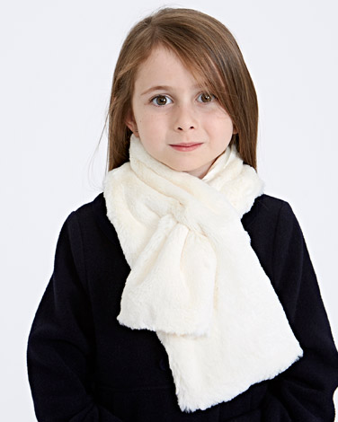 ivory Paul Costelloe Living Faux Fur Scarf