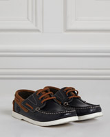 navy Paul Costelloe Living Boys Boat Shoes