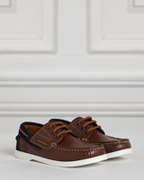 brown Paul Costelloe Living Brown Boat Shoes