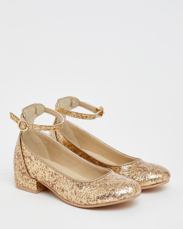 Paul Costelloe Living Gold Glitter Heels