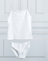 ivory Paul Costelloe Living Bow Vest And Brief Set