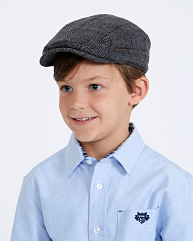 grey Paul Costelloe Living Boys Flat Cap