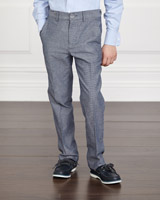 blue Paul Costelloe Living Textured Trousers