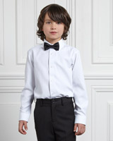 white Paul Costelloe Living White Shirt With Bow Tie
