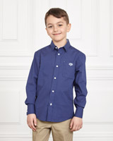 navy Paul Costelloe Living Dot Shirt