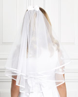white Paul Costelloe Living Bow Veil