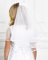 white Paul Costelloe Living Diamante Veil