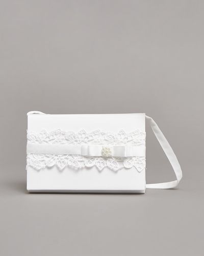 Paul Costelloe Living Ivory Lace Box Bag