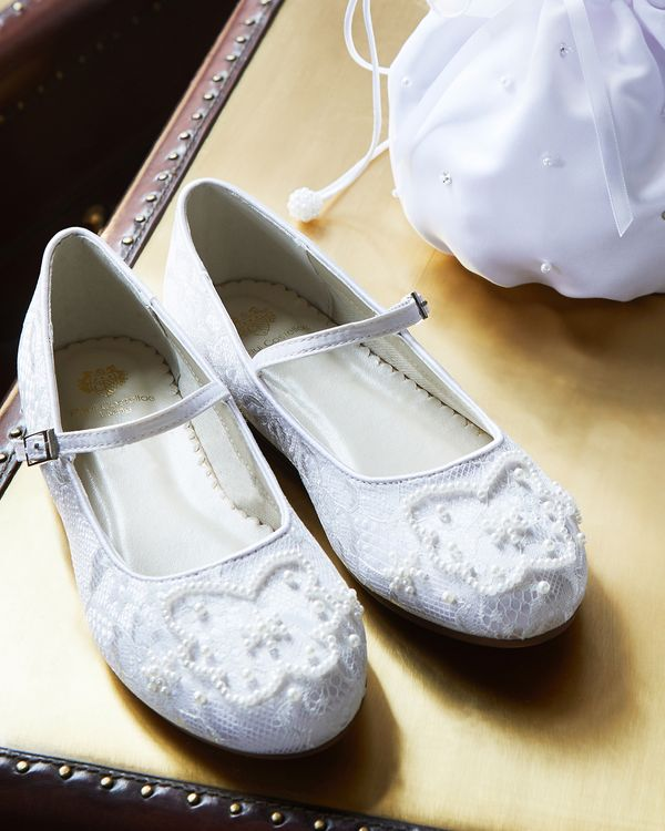 Paul Costelloe Living Lace Ballerina Shoe