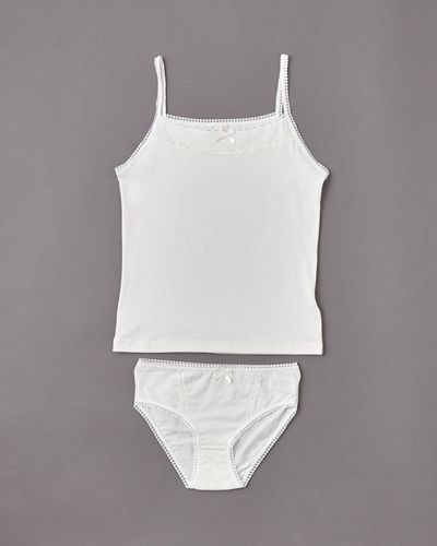 Paul Costelloe Living Ivory Vest And Brief Set
