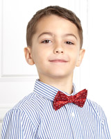 red Paul Costelloe Living Boys Red Bow Tie