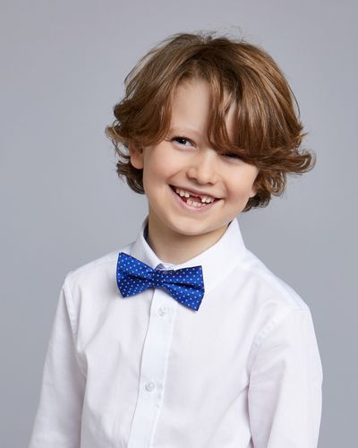 Paul Costelloe Living Blue Dot Bow Tie