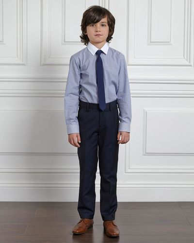 Paul Costelloe Living Boys Navy Suit Trousers thumbnail