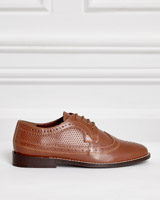 brown Paul Costelloe Living Leather Brogue Shoes