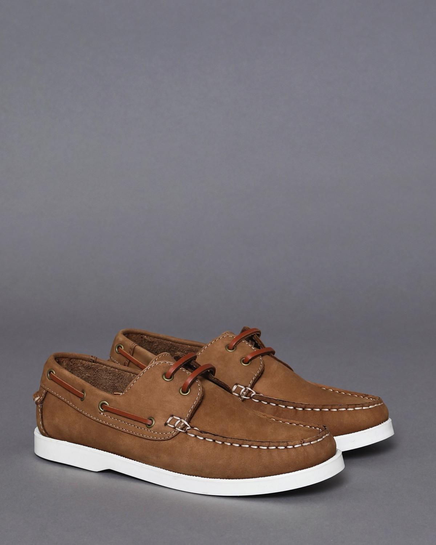 Brown Paul Costelloe Living Boys Boat Shoe