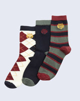 navy Paul Costelloe Living Boys Socks - Pack Of 3