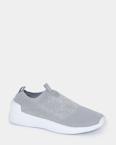 Lurex And Bead Knitted Slip On