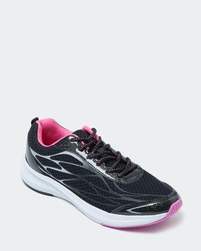Sporty Black And Pink Trainer