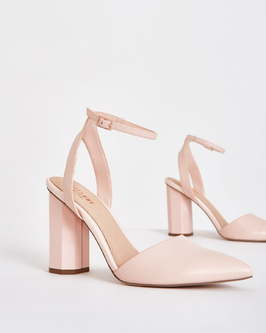 blush Gallery Ankle Strap Heels