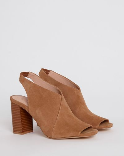 Suede Open Toe Heel Shoe