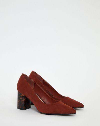 Gallery Rust Tortoise Heel Shoes