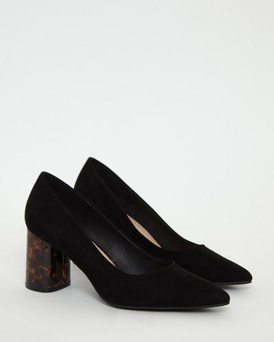 Gallery Black Tortoise Heel Shoes