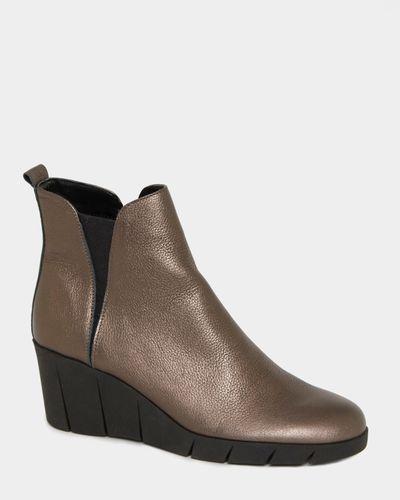 Studio Flexx Leather Wedge Boots thumbnail
