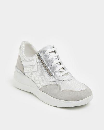 Leather Mix Wedge Shoe