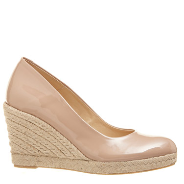 nude Rope Wedge Shoe