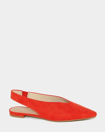 Slingback Flat V Front Shoes
