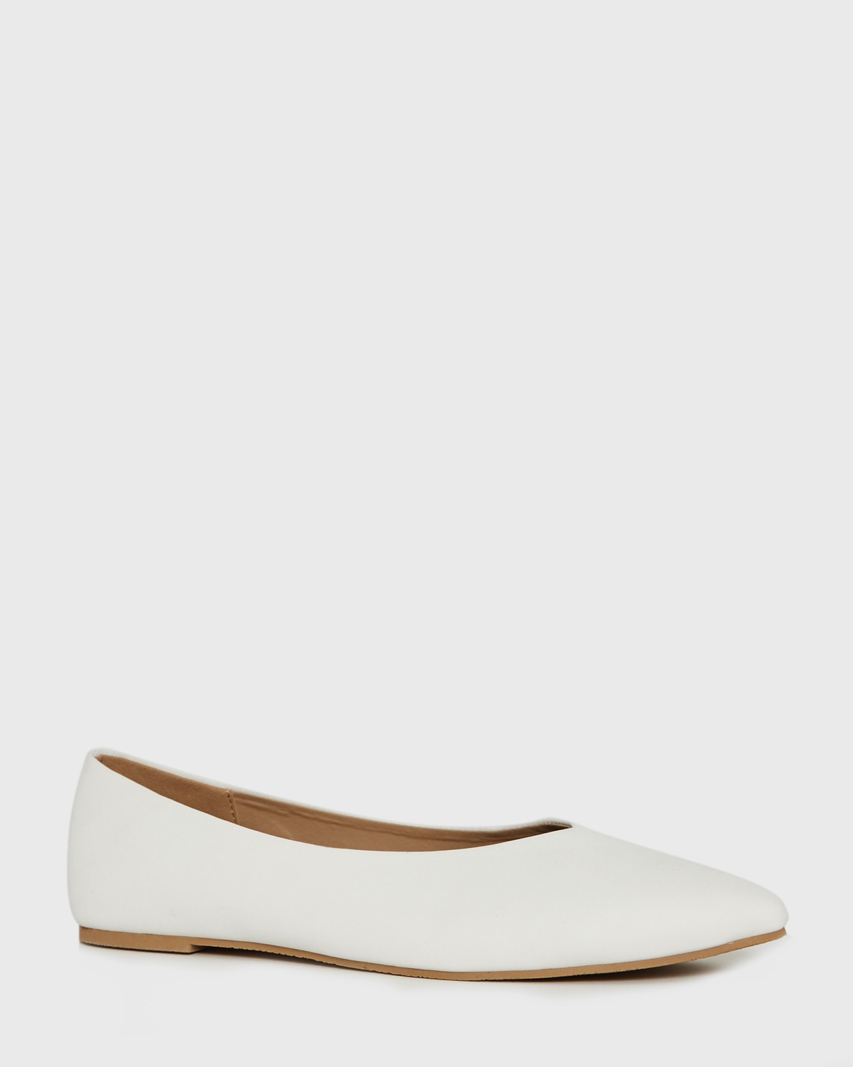 Dunnes Stores | White Pointed Flat Pumps