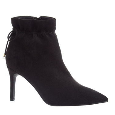 blackRuched Ankle Boots