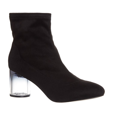 blackPerspex Heel Stretch Ankle Boots