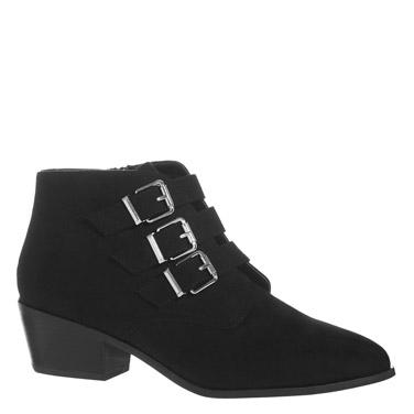 blackThree Buckle Boots