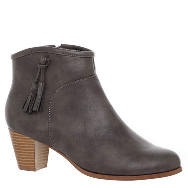 greyTassel Western Ankle Boots