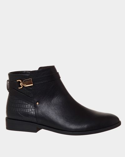 Croc Back Ankle Boots