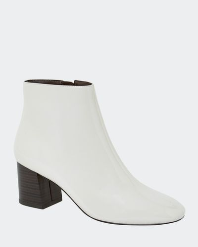 Ivory Patent Boots