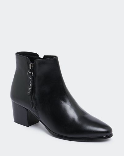 Leather Side Zip Ankle Boot thumbnail