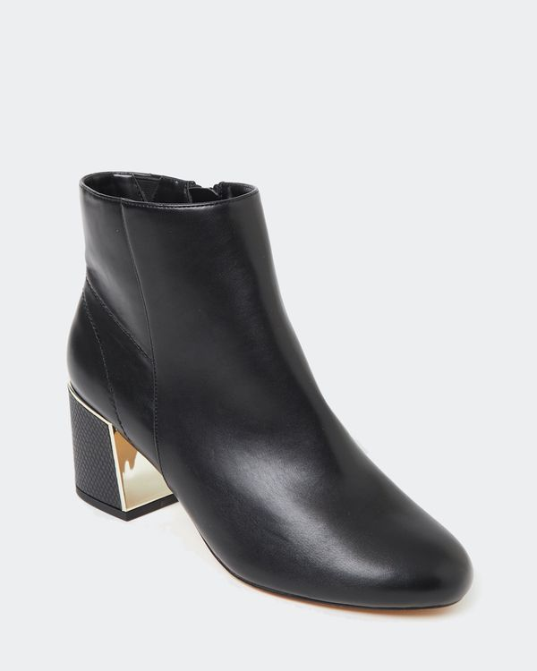 Gold Detail Low Heel Boot