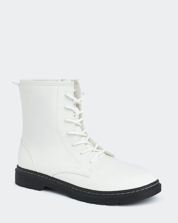 Ivory Lace Front Boot
